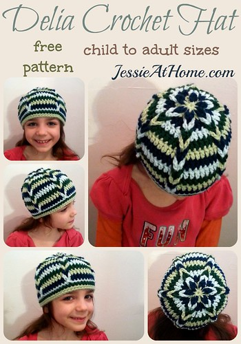 Delia Hat crochet pattern by Jessie At Home