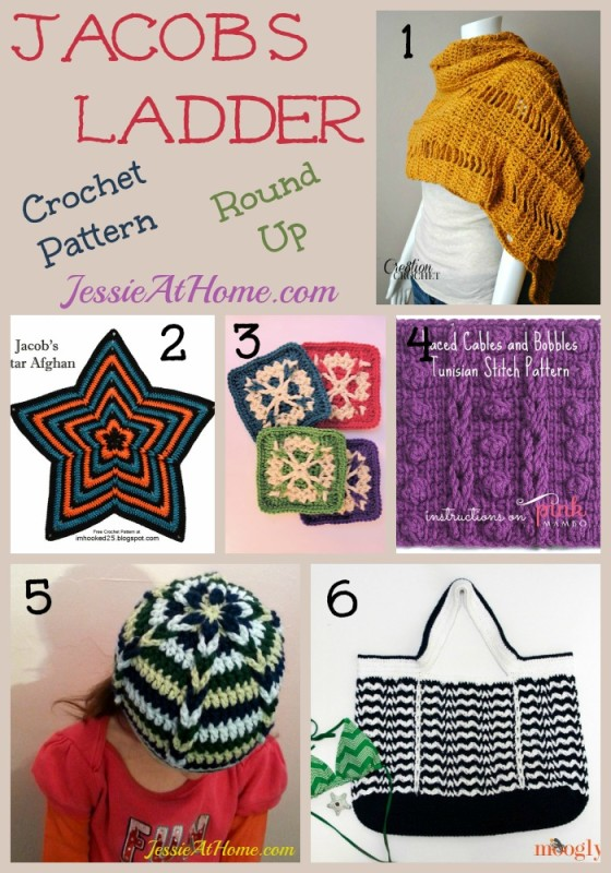 Jacobs Ladder Crochet Pattern Round Up from Jessie At Home