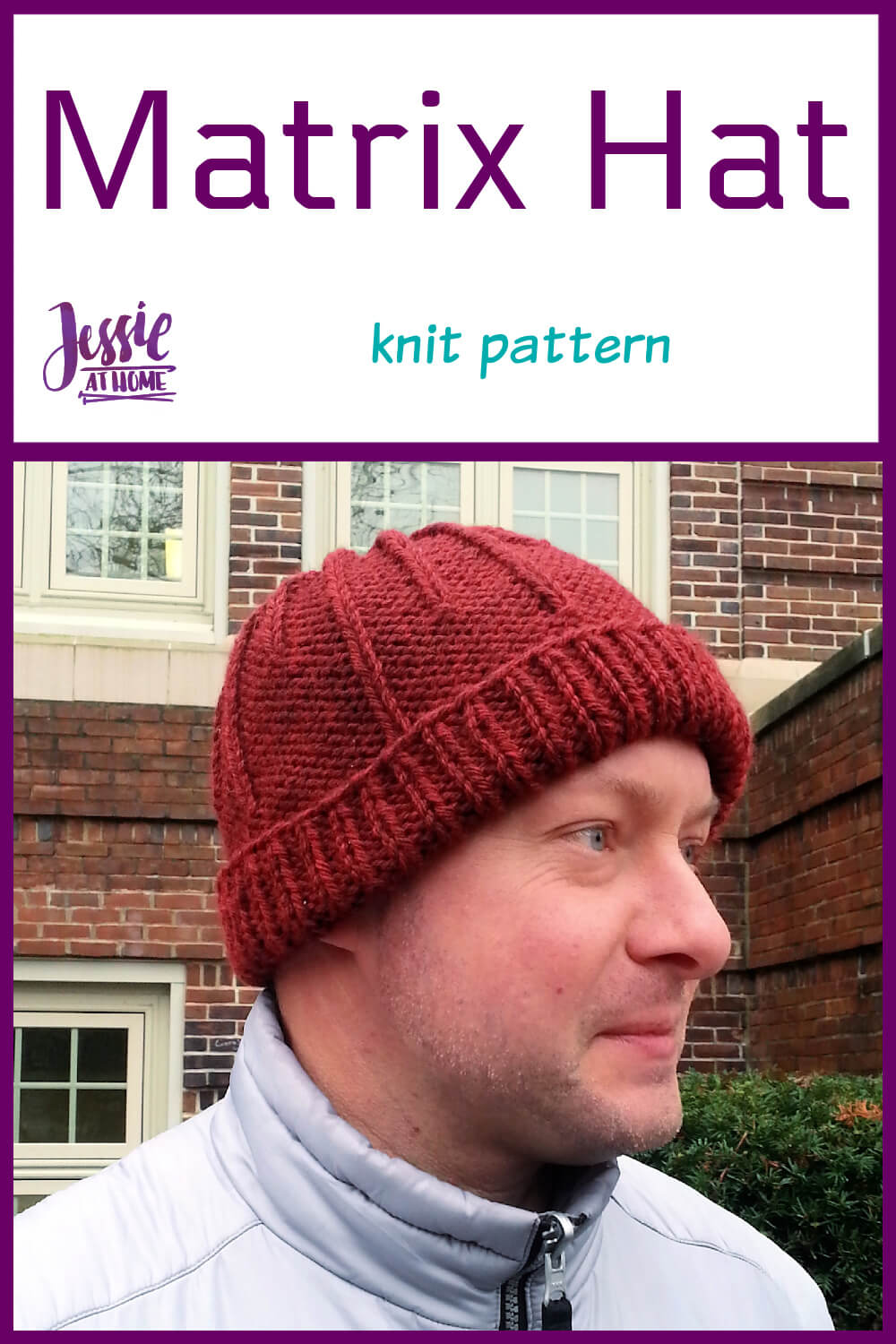 Matrix Hat - a knit pattern for when you need to escape