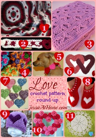 Love ~ Crochet Pattern Round Up from Jessie At Home