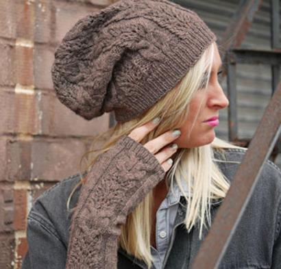Wheaten Cap and Mitts Kit #KnitKit from @beCraftsy