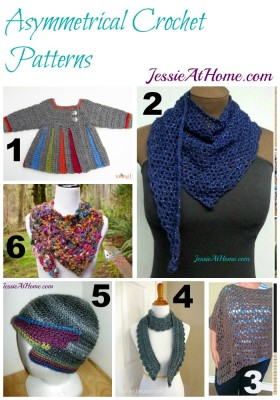 Asymmetrical Crochet Pattern Round Up from Jessie At Home