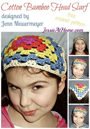 Cotton Bamboo Head Scarf crochet pattern on Jessie At Home