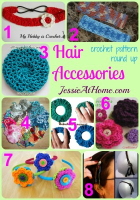 Hair Accessories Crochet Pattern Round Up from Jessie At Home
