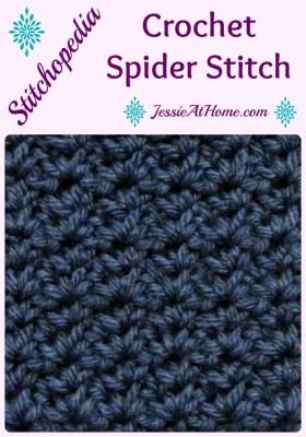 Stitchopedia ~ Crochet Spider Stitch Jessie At Home