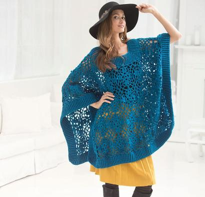 Lacy Poncho Kit #CrochetKit from @beCraftsy