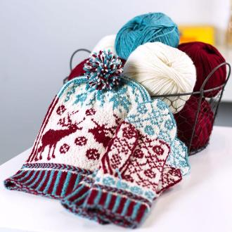 Next Steps in Fair Isle: Mittens & Hat Kit #KnitKit from @beCraftsy
