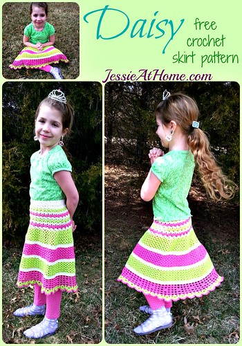 Daisy Skirt crochet pattern by Jessie At Home