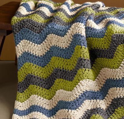 Shaded Ripple Afghan Kit #CrochetKit from @beCraftsy