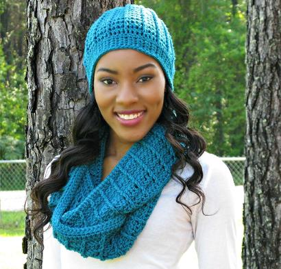 Country Appeal Beanie & Cowl Kit #CrochetKit from @beCraftsy