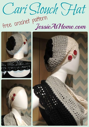 Cari Slouch Hat crochet pattern by Jessie At Home
