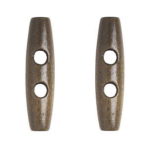 Knit Picks Light Brown Wood Toggle, 5cm
