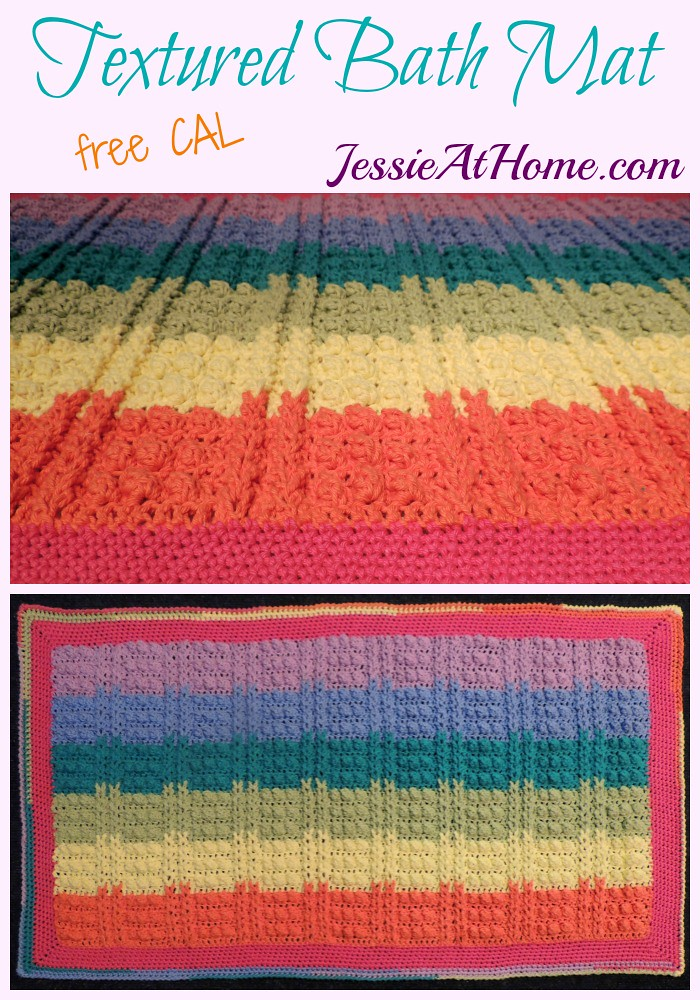 Textured Bath Mat CAL from Jessie At Home