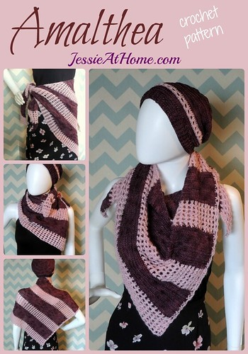 Amalthea Hat and Shawl crochet pattern by Jessie At Home