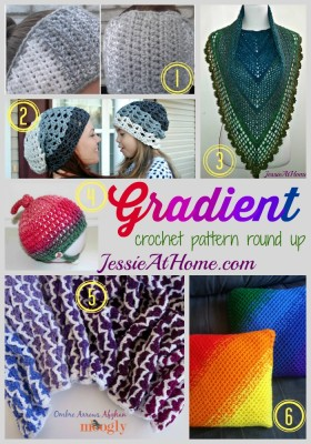 Gradient ~ crochet pattern round up from Jessie At Home