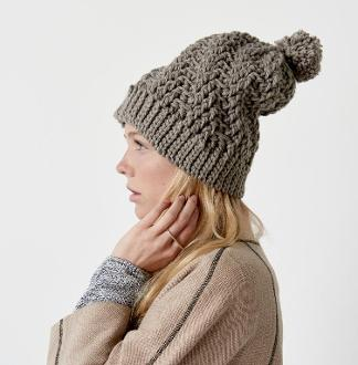 Stepping Texture Hat Kit #CrochetKit from @beCraftsy