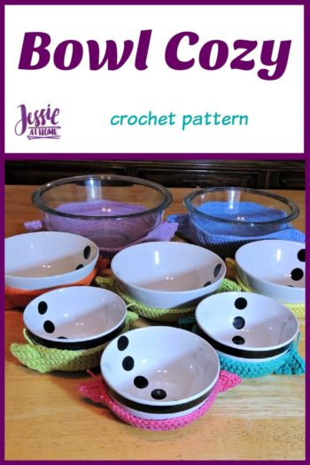 Bowl Cozy crochet pattern by Jessie At Home - Pin 1