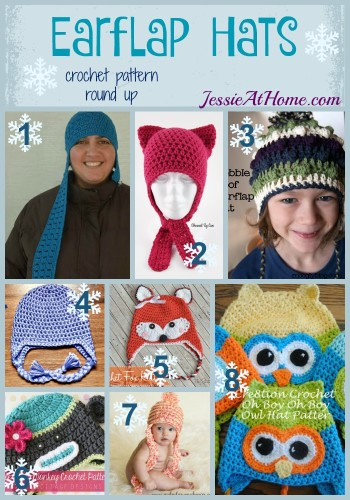 Earflap Hats free crochet pattern round up by Jessie At Home