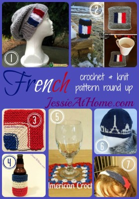 French crochet and knit pattern round up ~ from Jessie At Home