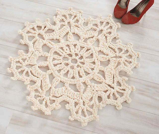 Snowflake Rug by Helen Glaze