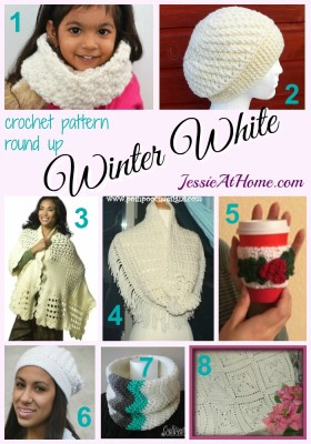 Winter White - free crochet pattern round up from Jessie At Home