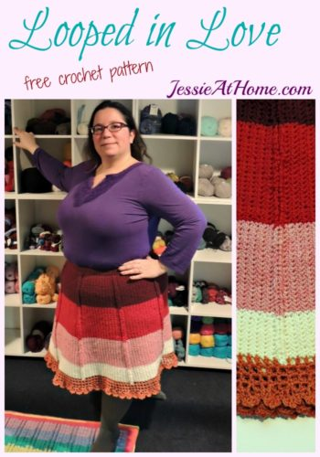 Looped in Love - free crochet pattern size child small to adult 5x by Jessie At Home