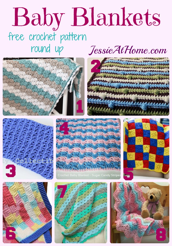 Baby Blanket free crochet pattern round up from Jessie At Home