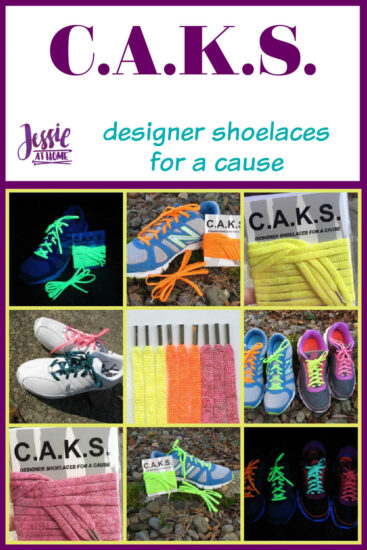 C.A.K.S. designer shoelaces for a cause by Jessie At Home - Pin