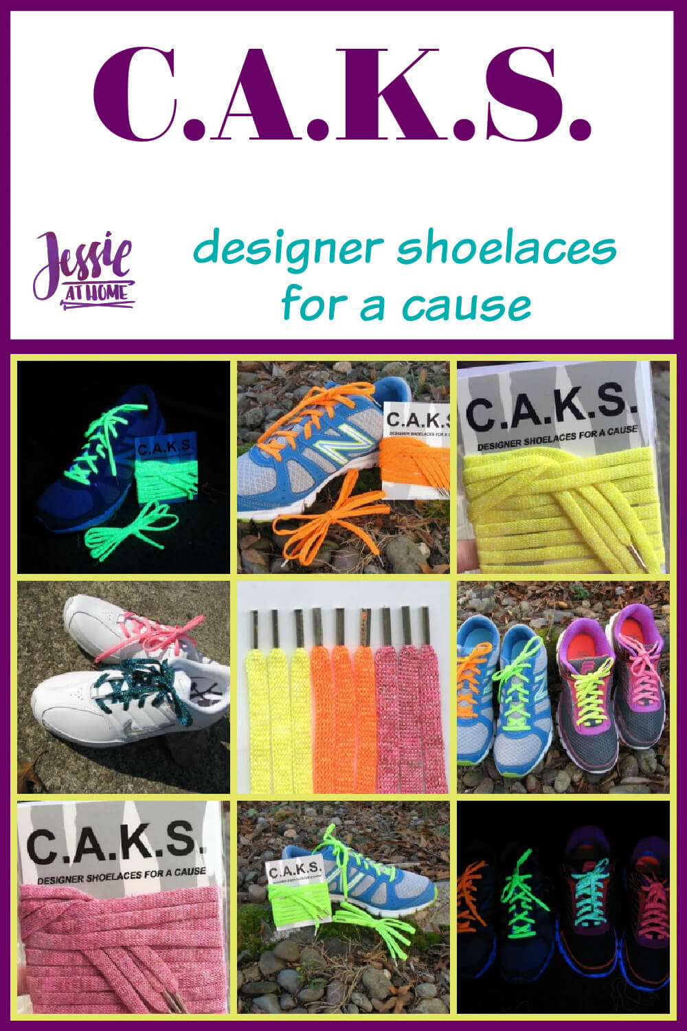 C.A.K.S. designer shoelaces for a cause from Kreinik