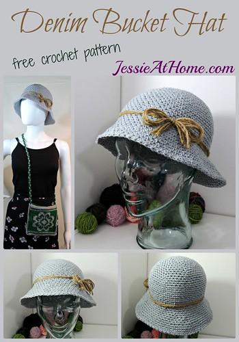 Denim Bucket Hat crochet pattern by Jessie At Home