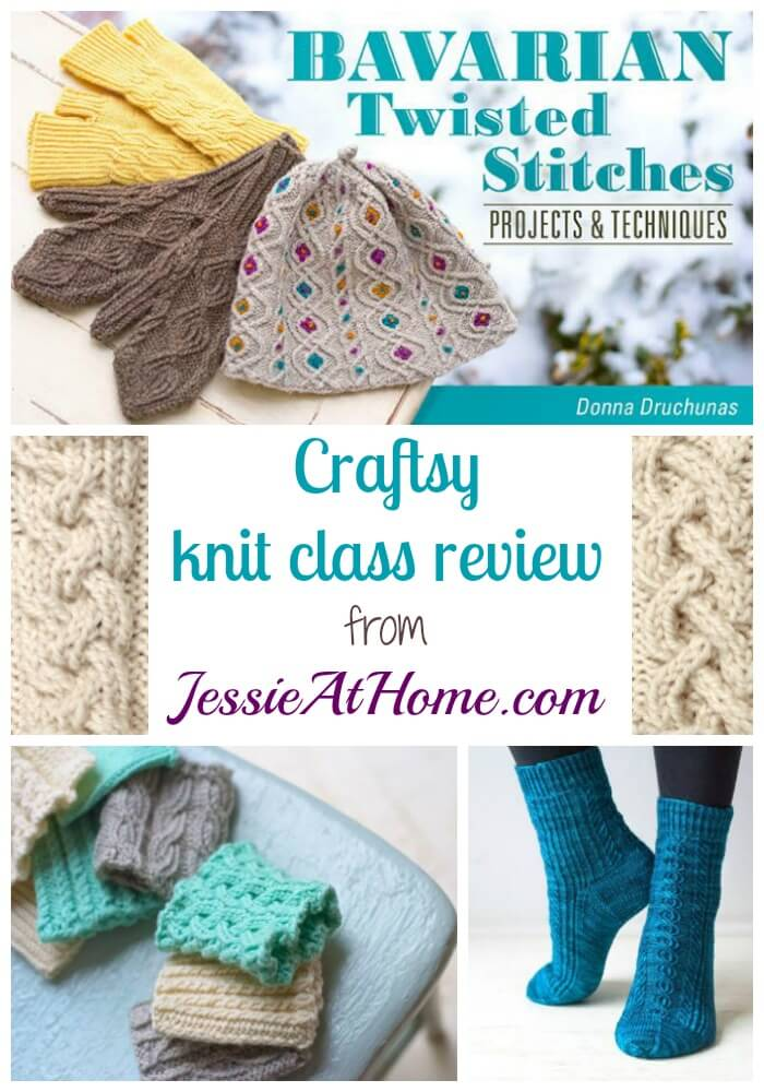 Bavarian Twisted Stitches - Craftsy Knit Class Review from Jessie At Home