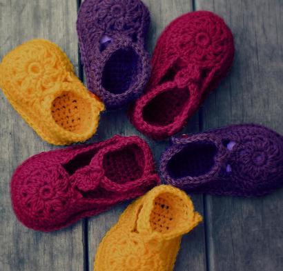 Flower Motif Shoes Craftsy Crochet Kit