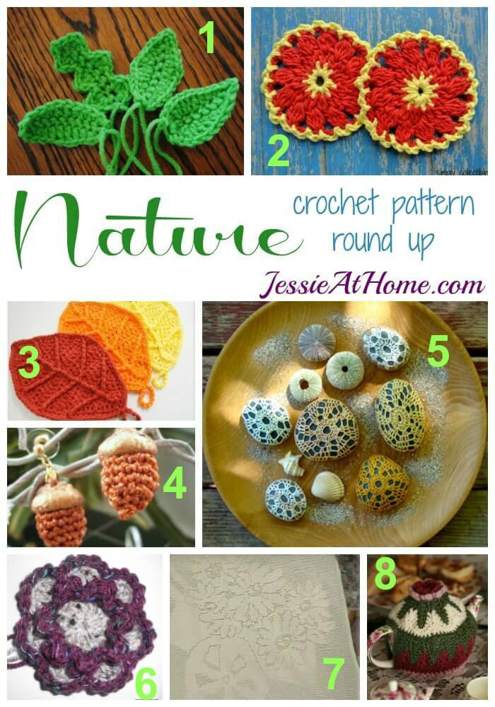 Nature Crochet Pattern Round Up from Jessie At Home
