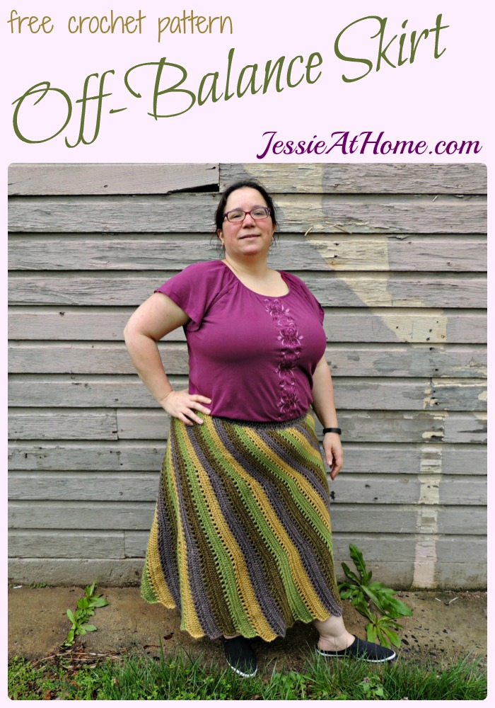 Off-Balance Skirt - free crochet pattern by Jessie At Home