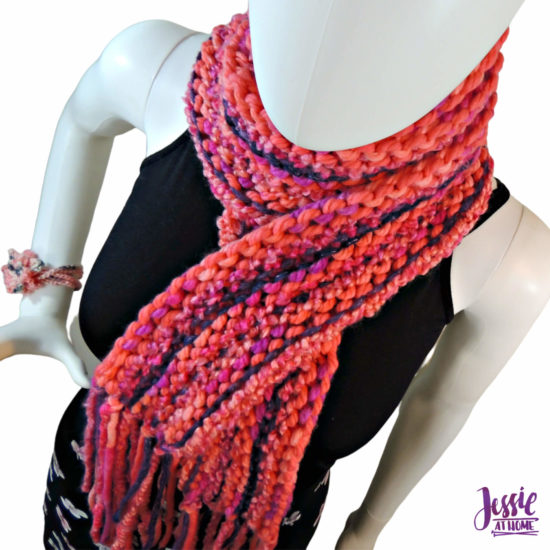 Basic Boho Knit Scarf knit pattern by Jessie At Home - 1