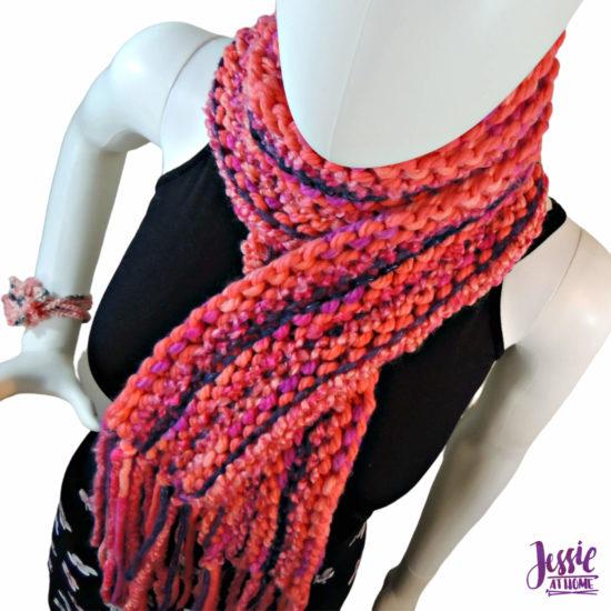 Basic Boho Knit Scarf knit pattern by Jessie At Home - 1