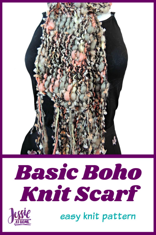 Basic Boho Knit Scarf - be fashion forward with ease!
