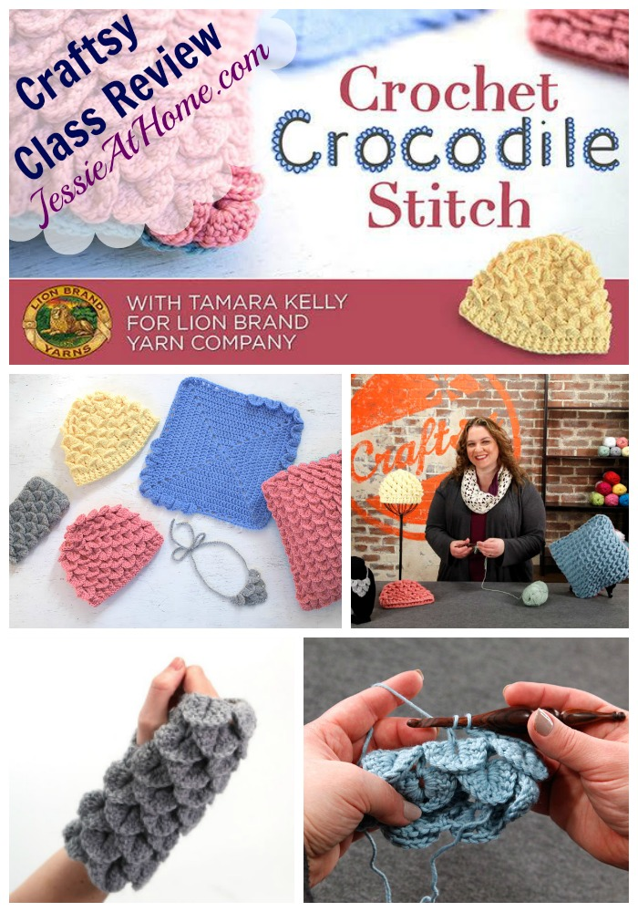 Crochet Crocodile Stitch Craftsy Class Review from Jessie At Home