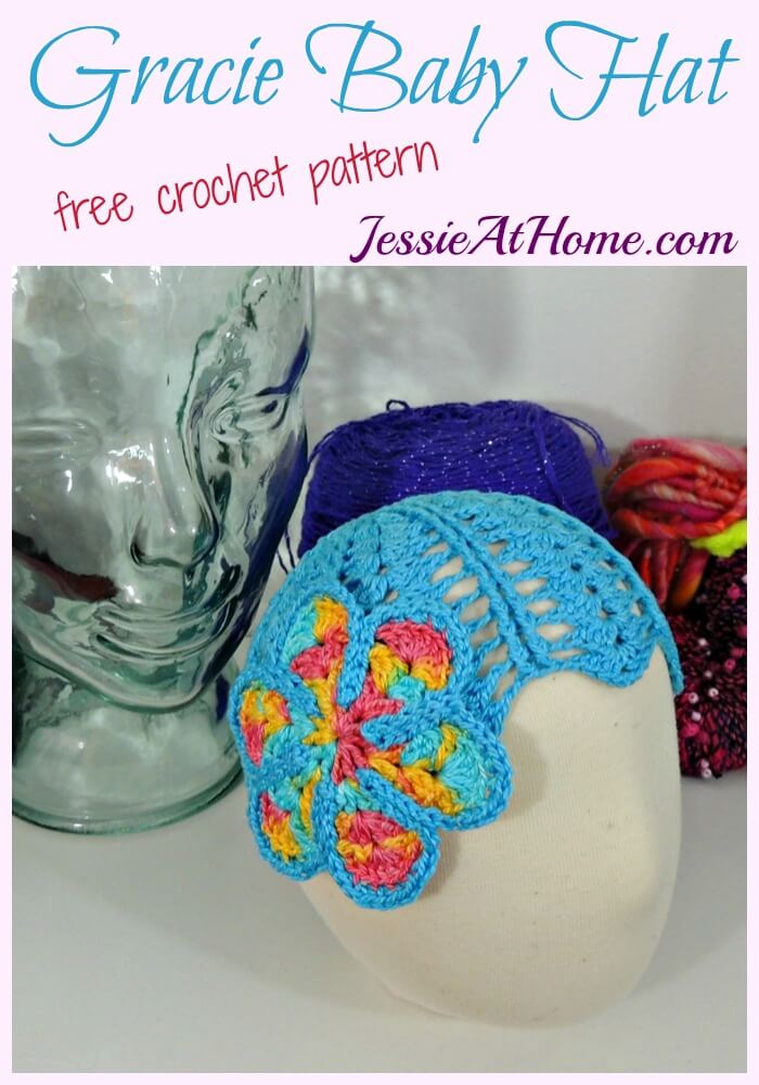 Gracie Baby Hat free crochet pattern by Jessie At Home