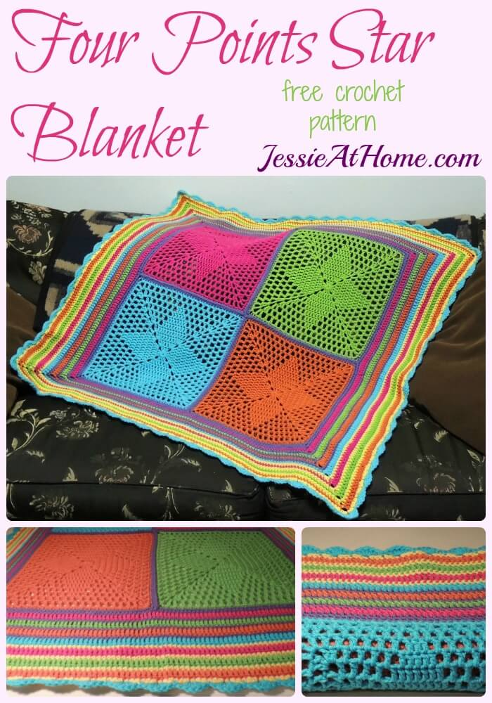 160512 Four Points Star Blanket - free crochet pattern by Jessie At Home