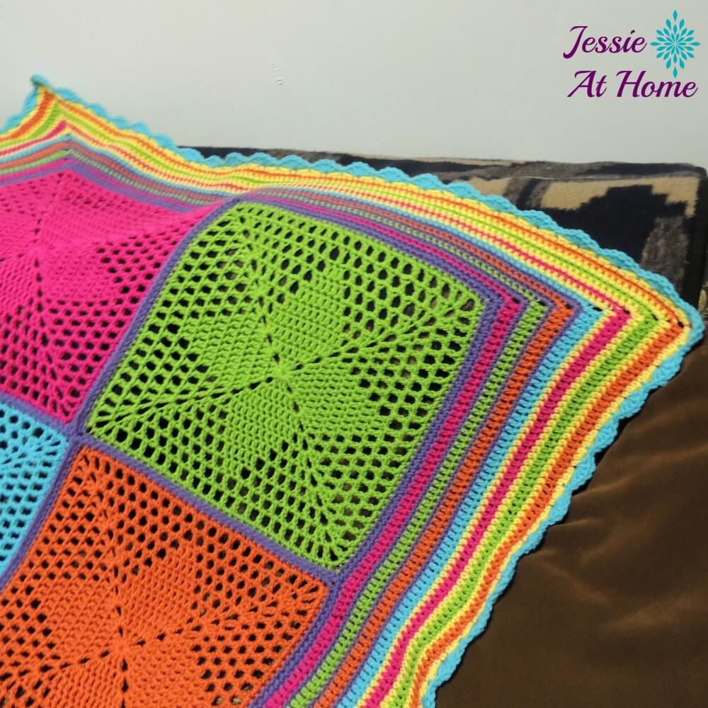 Free Crochet Star Pattern Throw : Four Points Star Blanket - an adorable blanket for your ...