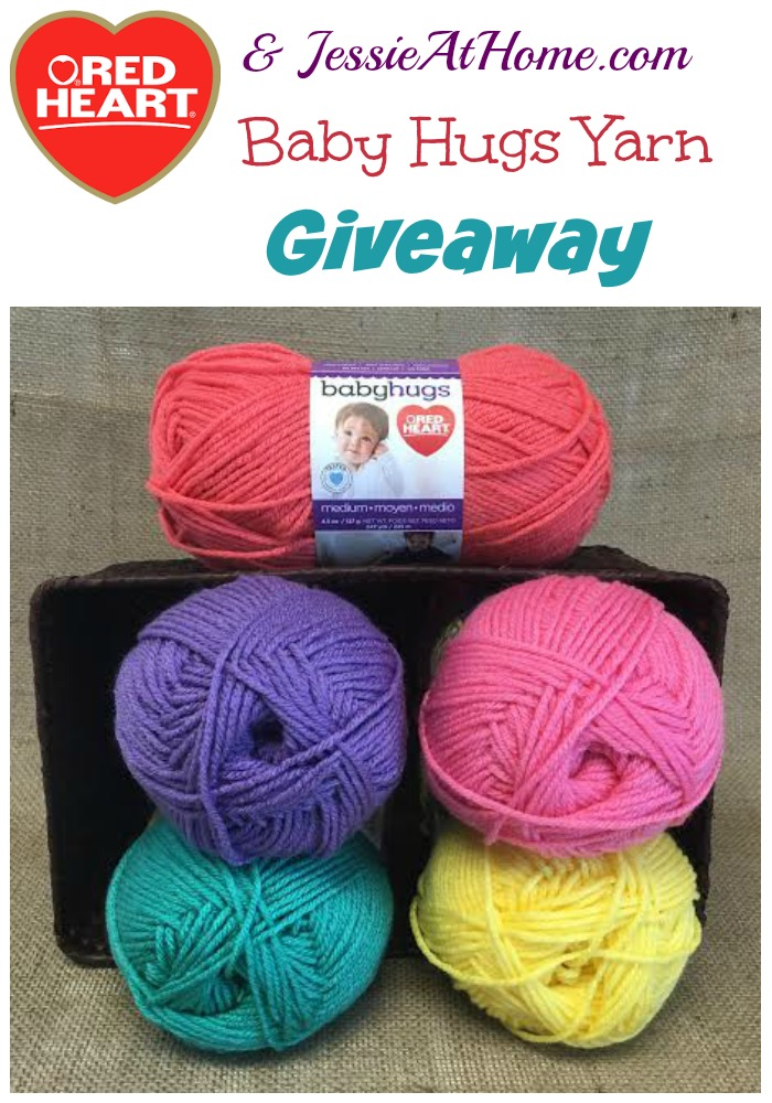 Red Heart and Jessie At Home Baby Hugs Yarn giveaway