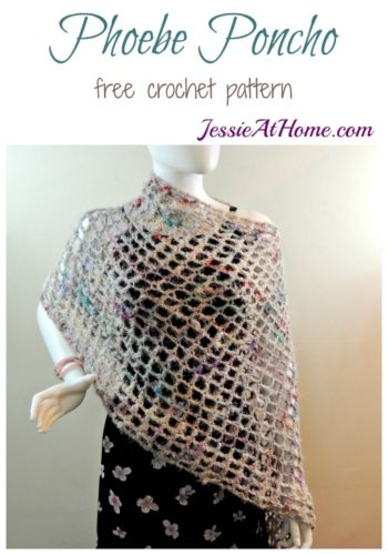 Phoebe Poncho free crochet pattern by Jessie At Home