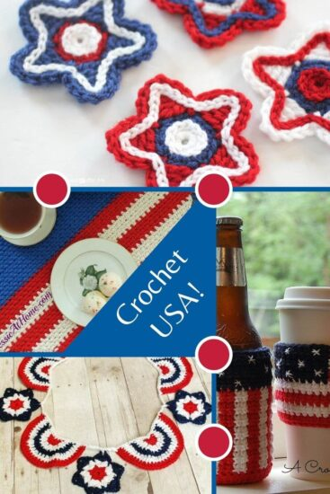 Free Patriotic Crochet Patterns round up by Jessie At Home - Pin 3