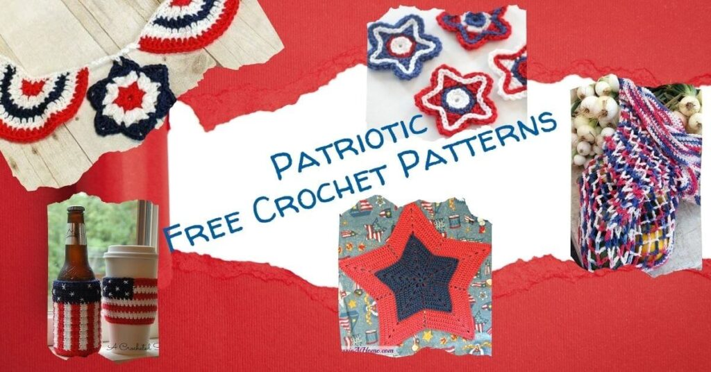 Free Patriotic Crochet Patterns round up by Jessie At Home - Social