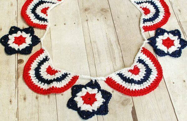 Star Spangled Banner Crochet Bunting by Petals to Picots