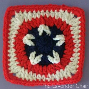 Stars and Stripes Square by The Lavender Chair