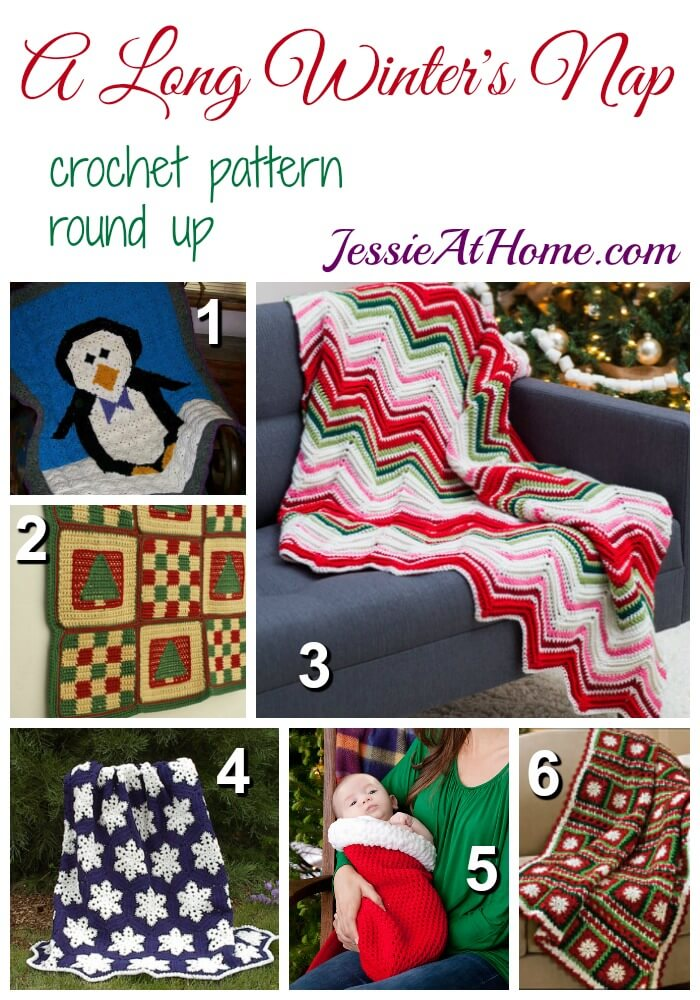 A Long Winter's Nap - free crochet pattern round up from Jessie At Home