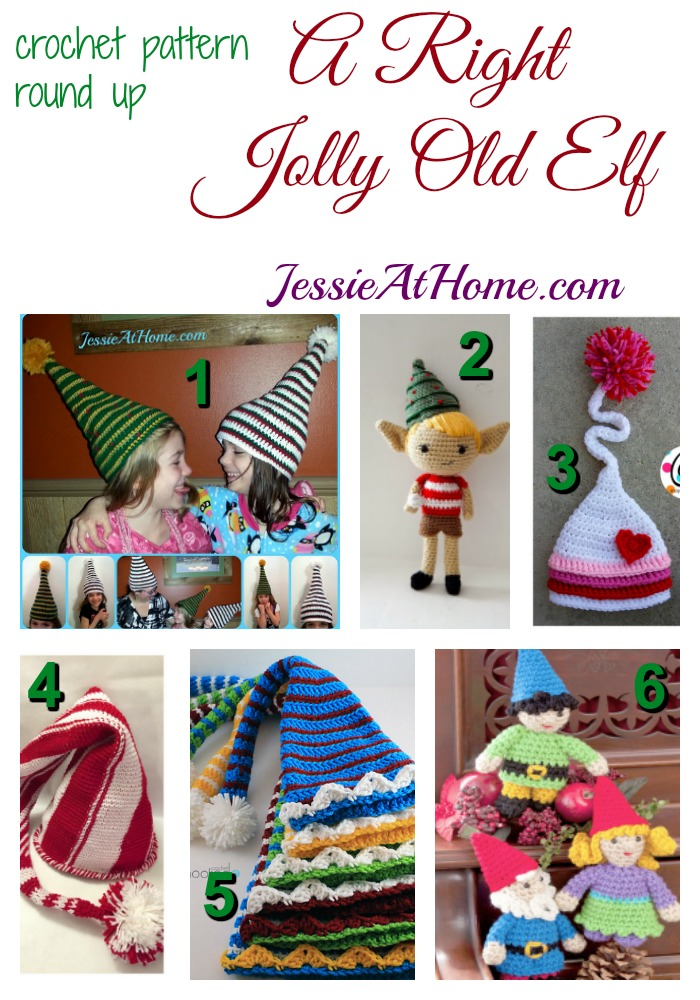 A Right Jolly Old Elf - free crochet pattern round up from Jessie At Home