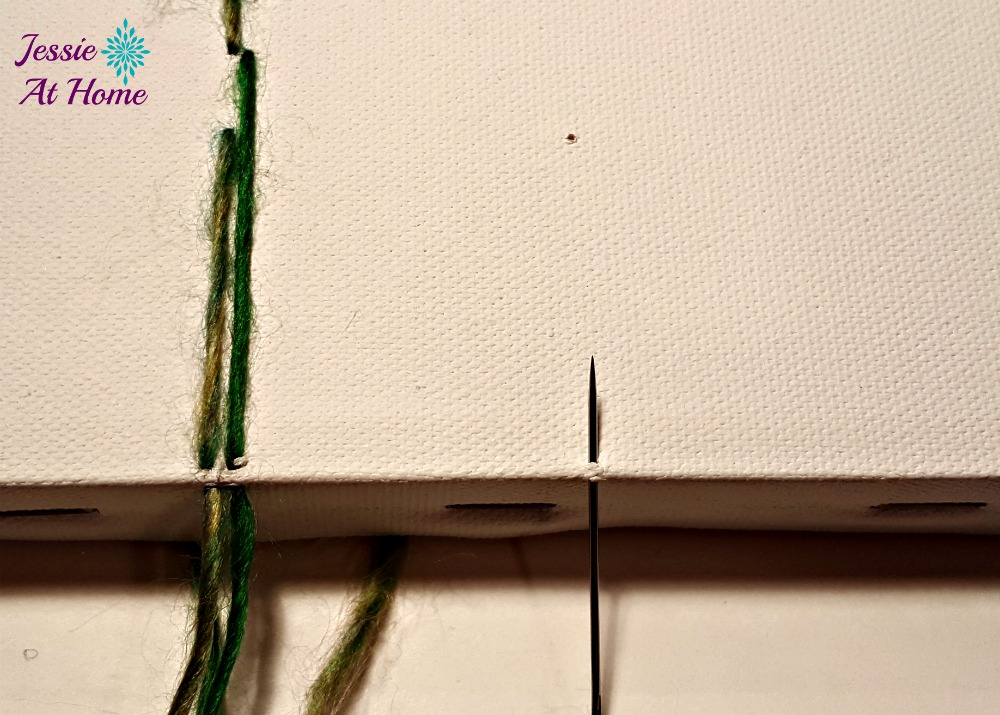 Flower Loom Canvas by Jessie At Home - free tutorial - 4